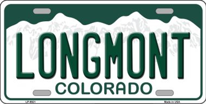 Longmont Colorado Background Wholesale Metal Novelty License Plate