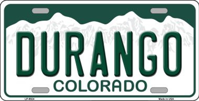 Durango Colorado Background Wholesale Metal Novelty License Plate