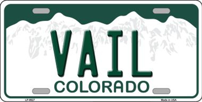 Vail Colorado Background Wholesale Metal Novelty License Plate