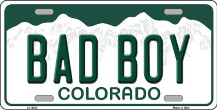 Bad Boy Colorado Background Wholesale Metal Novelty License Plate
