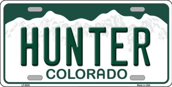 Hunter Colorado Background Wholesale Metal Novelty License Plate