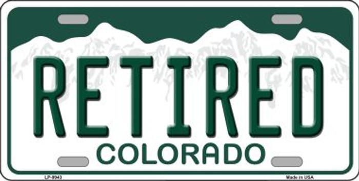 Retired Colorado Background Wholesale Metal Novelty License Plate