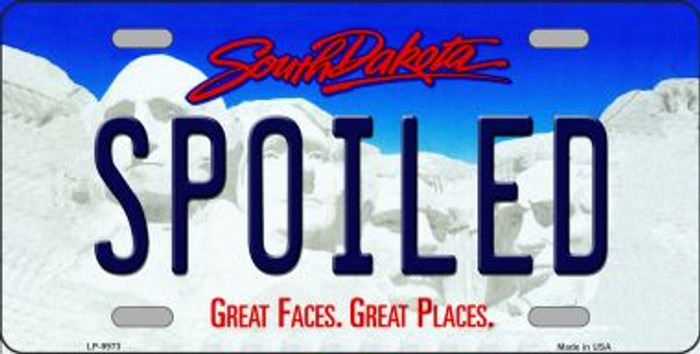 Spoiled South Dakota Background Wholesale Metal Novelty License Plate