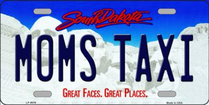 Moms Taxi South Dakota Background Wholesale Metal Novelty License Plate
