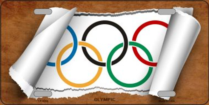 Olympic Flag Scroll Wholesale Metal Novelty License Plate