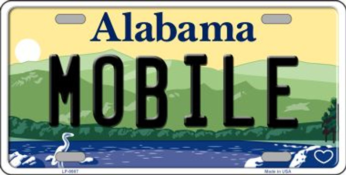 Mobile Alabama Background Wholesale Metal Novelty License Plate
