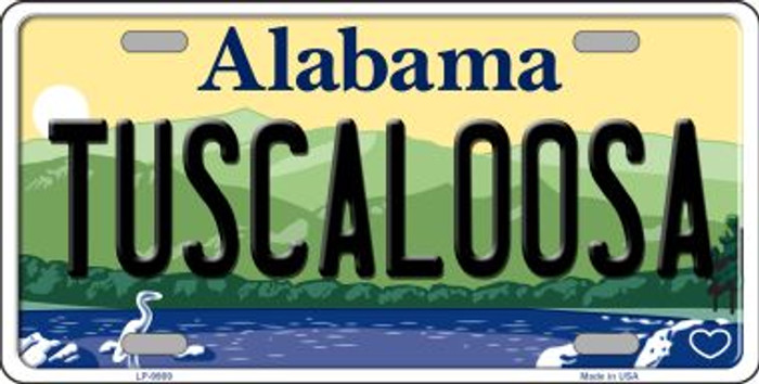 Tuscaloosa Alabama Background Wholesale Metal Novelty License Plate