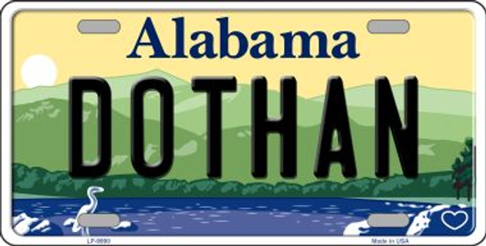 Dothan Alabama Background Wholesale Metal Novelty License Plate