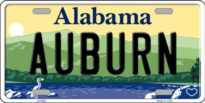 Auburn Alabama Background Wholesale Metal Novelty License Plate