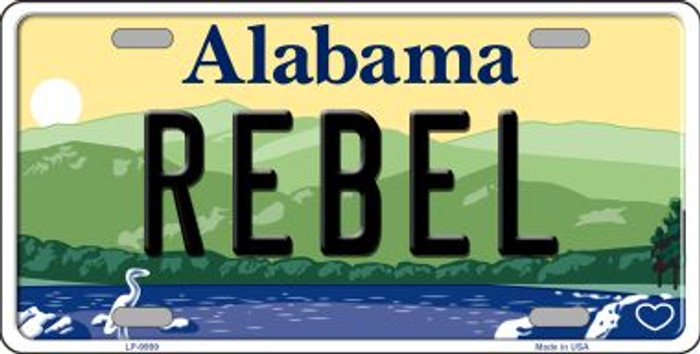 Rebel Alabama Background Wholesale Metal Novelty License Plate