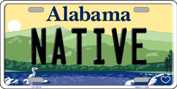 Native Alabama Background Wholesale Metal Novelty License Plate