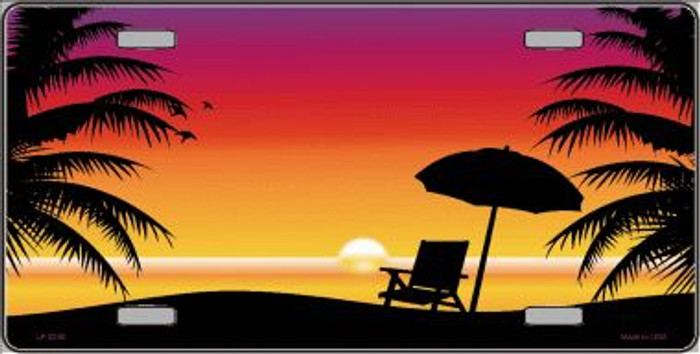 Sunset Beach Wholesale Metal Novelty License Plate LP-2340