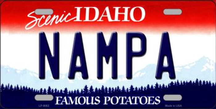 Nampa Idaho Background Wholesale Metal Novelty License Plate
