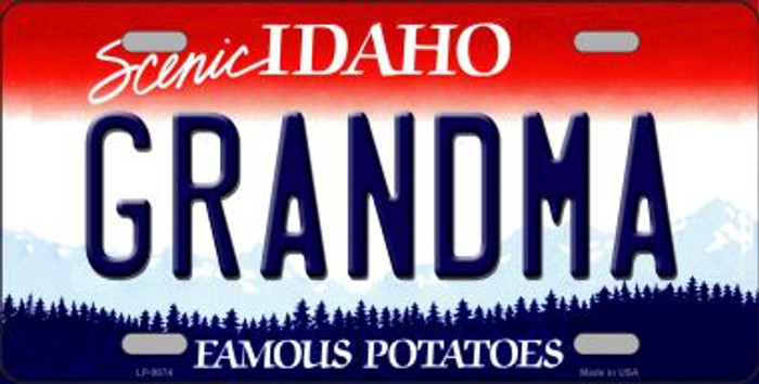 Grandma Idaho Background Wholesale Metal Novelty License Plate