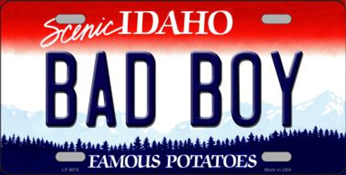 Bad Boy Idaho Background Wholesale Metal Novelty License Plate
