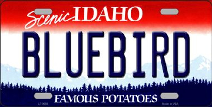 Bluebird Idaho Background Wholesale Metal Novelty License Plate