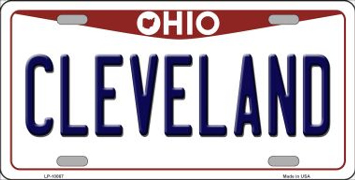 Cleveland Ohio Background Wholesale Metal Novelty License Plate