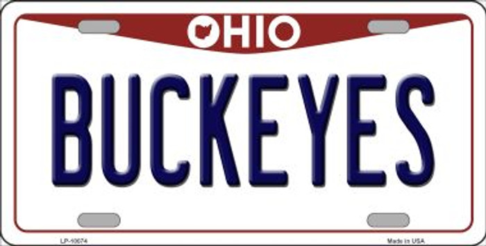 Buckeyes Ohio Background Wholesale Metal Novelty License Plate