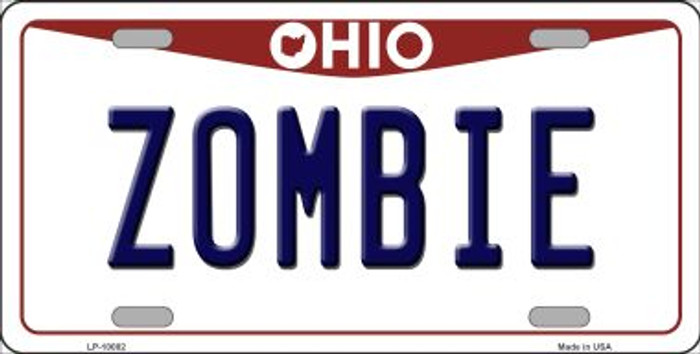 Zombie Ohio Background Wholesale Metal Novelty License Plate