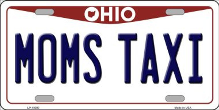 Moms Taxi Ohio Background Wholesale Metal Novelty License Plate