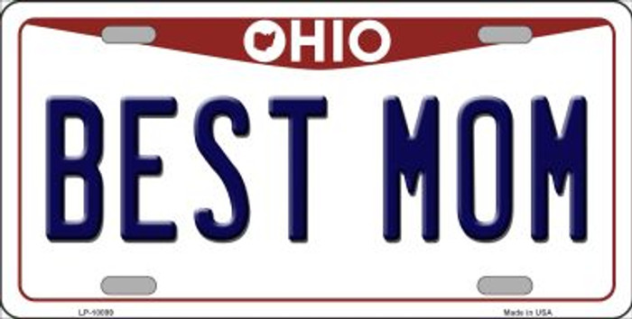 Best Mom Ohio Background Wholesale Metal Novelty License Plate