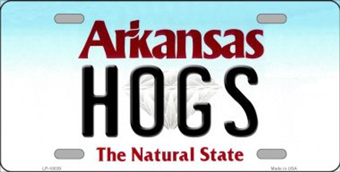 Hogs Arkansas Background Wholesale Metal Novelty License Plate