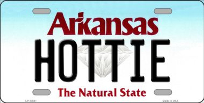 Hottie Arkansas Background Wholesale Metal Novelty License Plate