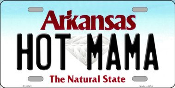 Hot Mama Arkansas Background Wholesale Metal Novelty License Plate