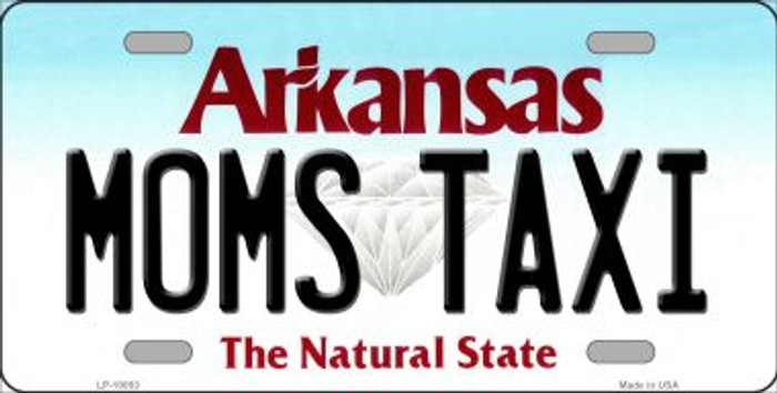 Moms Taxi Arkansas Background Wholesale Metal Novelty License Plate