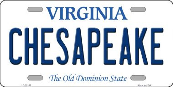 Chesapeake Virginia Background Wholesale Metal Novelty License Plate