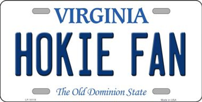 Hokie Fan Virginia Background Wholesale Metal Novelty License Plate