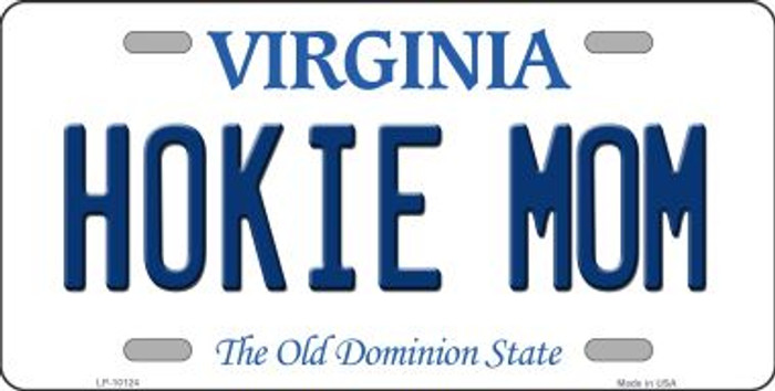 Hokie Mom Virginia Background Wholesale Metal Novelty License Plate