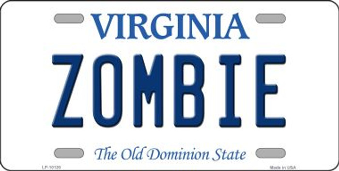 Zombie Virginia Background Wholesale Metal Novelty License Plate