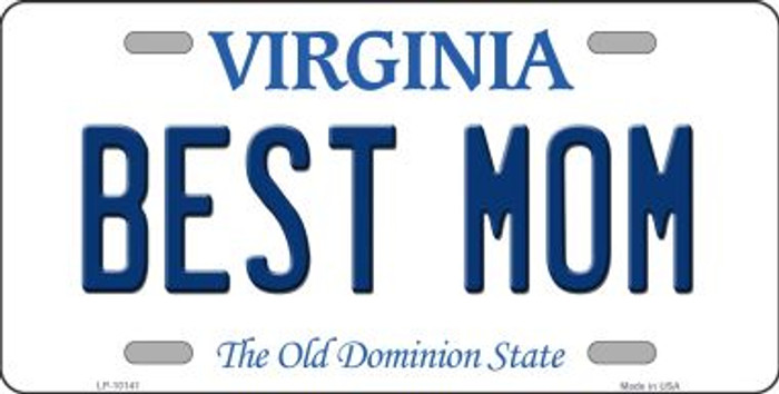 Best Mom Virginia Background Wholesale Metal Novelty License Plate
