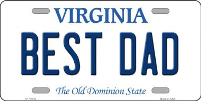 Best Dad Virginia Background Wholesale Metal Novelty License Plate