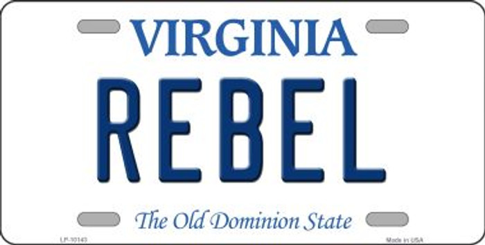 Rebel Virginia Background Wholesale Metal Novelty License Plate