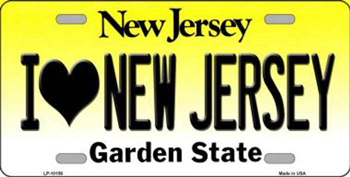I Love New Jersey Background Wholesale Metal Novelty License Plate