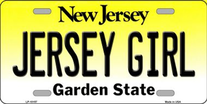 Jersey Girl New Jersey Background Wholesale Metal Novelty License Plate