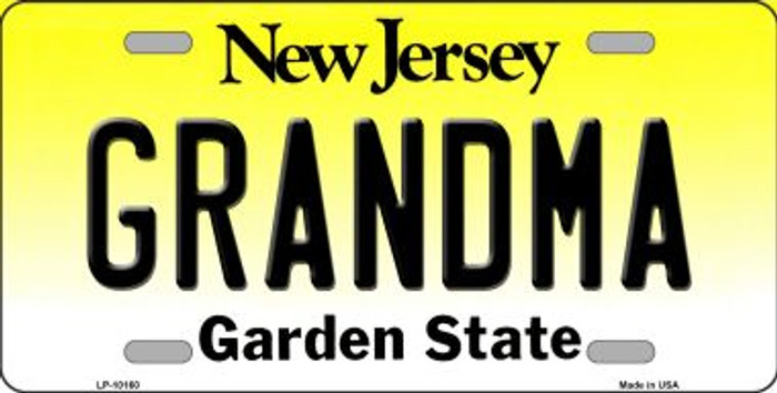 Grandma New Jersey Background Wholesale Metal Novelty License Plate