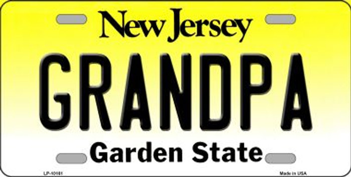 Grandpa New Jersey Background Wholesale Metal Novelty License Plate