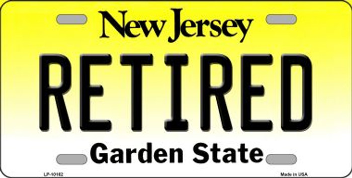 Retired New Jersey Background Wholesale Metal Novelty License Plate