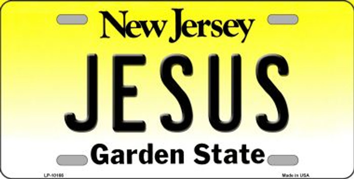 Jesus New Jersey Background Wholesale Metal Novelty License Plate