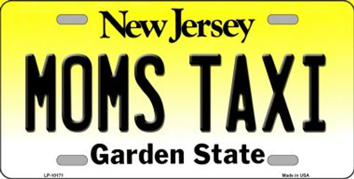 Moms Taxi New Jersey Background Wholesale Metal Novelty License Plate
