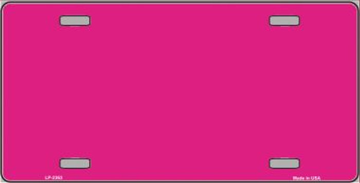 Pink Solid Background Wholesale Metal Novelty License Plate LP-2363