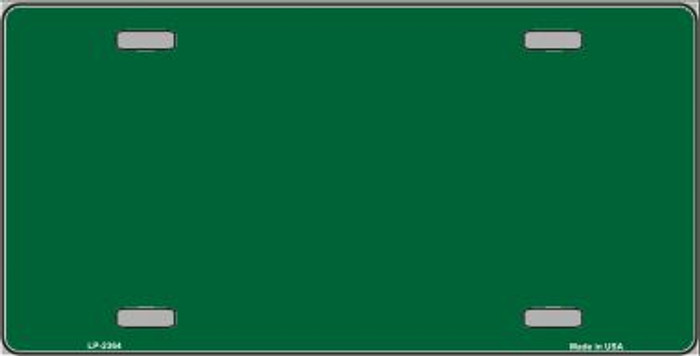 Green Solid Background Wholesale Metal Novelty License Plate LP-2364