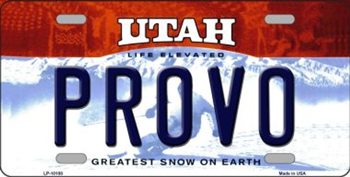 Provo Utah Background Wholesale Metal Novelty License Plate