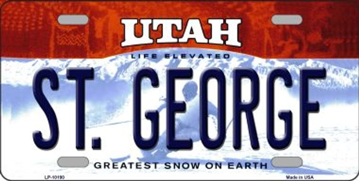 St George Utah Background Wholesale Metal Novelty License Plate