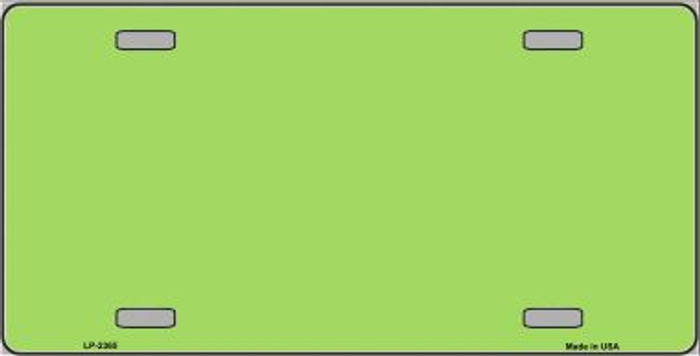 Lime Green Solid Background Wholesale Metal Novelty License Plate LP-2365