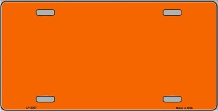 Orange Solid Background Wholesale Metal Novelty License Plate LP-2367