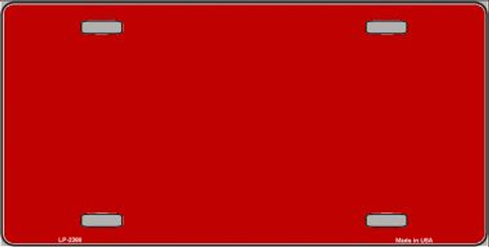 Red Solid Background Wholesale Metal Novelty License Plate LP-2368